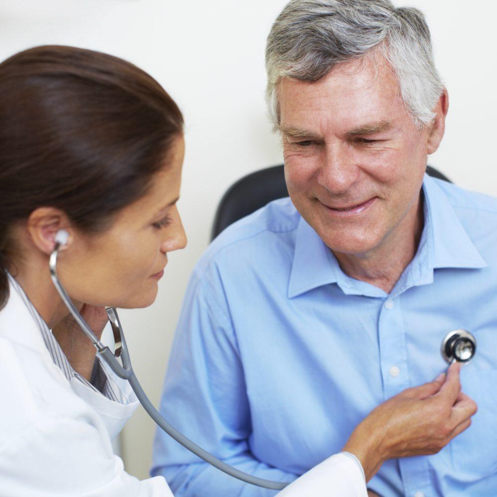 Checking his cardiovascular health